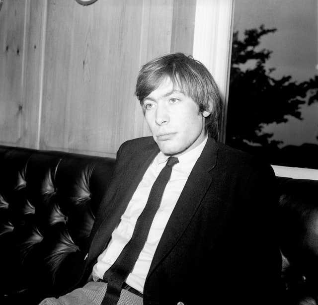 Charlie Watts a year after he joined the band