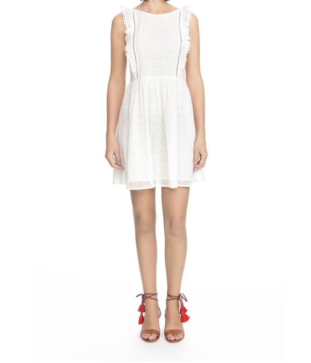 "<p>Calie lace A-line dress, $175, <a href=""https://shop.nordstrom.com/s/sezane-calie-lace-a-line-dress/4940641"" rel=""nofollow noopener"" target=""_blank"" data-ylk=""slk:nordstrom.com"" class=""link rapid-noclick-resp"">nordstrom.com </a> </p>"