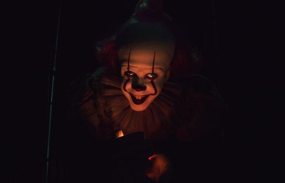 """<p>Twenty-seven years after their first encounter with It, the members of the Losers Club are forced to return to Derry and have a final showdown with the demonic entity. Only one of the seven Losers stayed in town after they grew up: Mike Hanlon, who becomes the town librarian. When he hears whispers of clown sightings in Derry and suspects a recent, savage murder is Pennywise's doing, he alerts the rest of the group to honor the pact they made as kids to kill It for good if It ever returned.</p> <p>Watch <a href=""""https://play.hbomax.com/page/urn:hbo:page:GXkXIGACM6o-njwEAABv5:type:feature?utm_id=sa%7c71700000067030777%7c58700005868654303%7cp53631644808&amp;gclid=Cj0KCQiA4L2BBhCvARIsAO0SBdZ8t-eFTkt-98KdC-ZZjcTzYkdy_UCxZVQQQkjEq3_rF9ev3AKncMsaAr4YEALw_wcB&amp;gclsrc=aw.ds"""" class=""""link rapid-noclick-resp"""" rel=""""nofollow noopener"""" target=""""_blank"""" data-ylk=""""slk:It Chapter Two""""><strong>It Chapter Two</strong></a> on HBO Max now.</p>"""