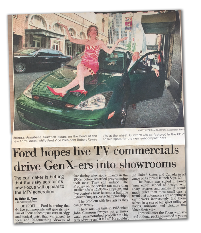 Before Annabelle Gurwitch faced repossession during COVID, she was Ford's national spokesperson.