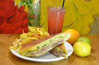"""<p>In Logan Square, with 139 tips and reviews. Matthew Straub writes, """"You want the Cubano, of course."""" <a href=""""http://www.90milescubancafe.com/"""" rel=""""nofollow noopener"""" target=""""_blank"""" data-ylk=""""slk:2540 W. Armitage Ave."""" class=""""link rapid-noclick-resp"""">2540 W. Armitage Ave.</a></p>"""