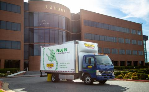J.B. Hunt Announces Delivery of Five New FUSO eCanter All-Electric Vehicles for Final Mile Fleet