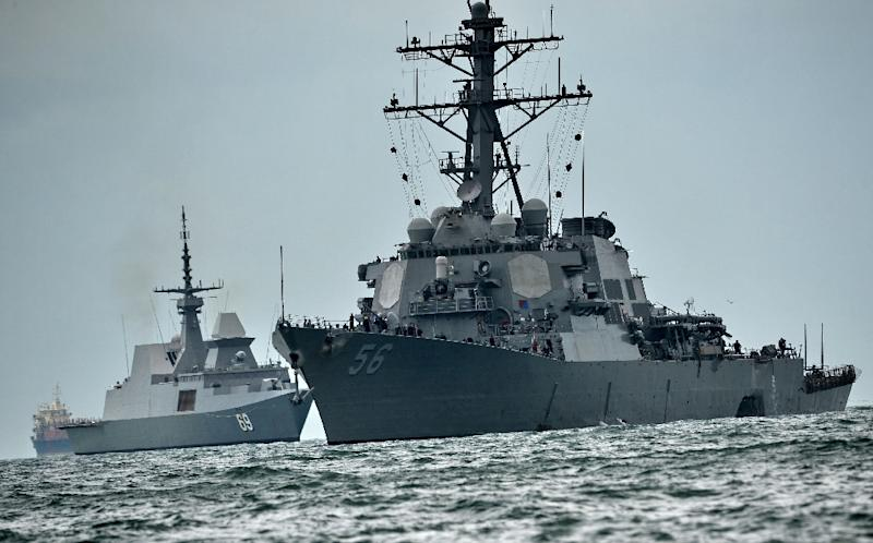 Ten US sailors died when the guided-missile destroyer USS John S. McCain collided with a tanker east of Singapore in August 2017