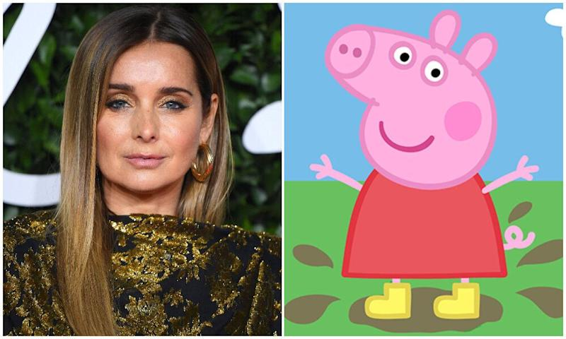 Louise Redknapp and Peppa Pig (Photo: Shutterstock/Entertainment One)