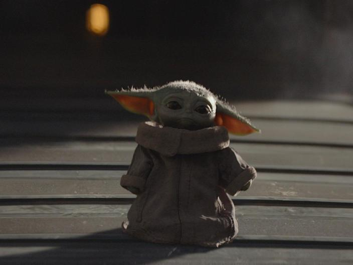 <p>Baby Yoda's name was revealed during The Mandalorian season two</p> (Disney+)