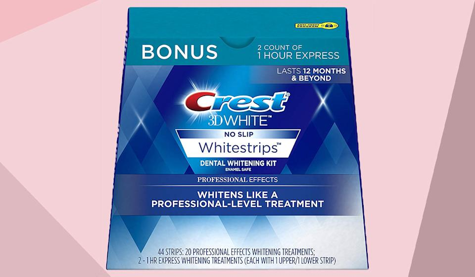 Save 44 percent on these top-rated Whitestrips. (Photo: Amazon)