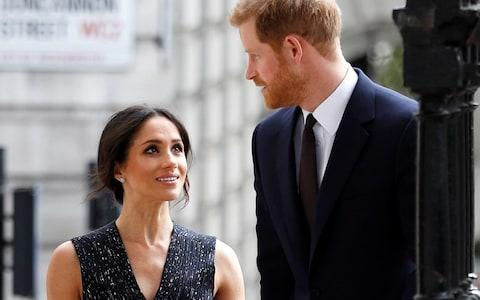 Britain's Prince Harry and his fiancee Meghan Markle arrive at a service at St Martin-in-The Fields to mark 25 years since Stephen Lawrence was killed in a racially motivated attack, in London - Credit: Reuters