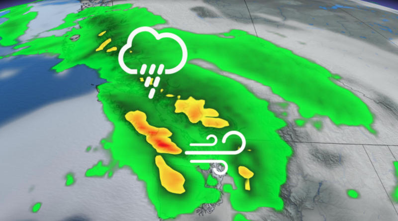 B.C. continues week of relentless rain and heavy winds — timing and details
