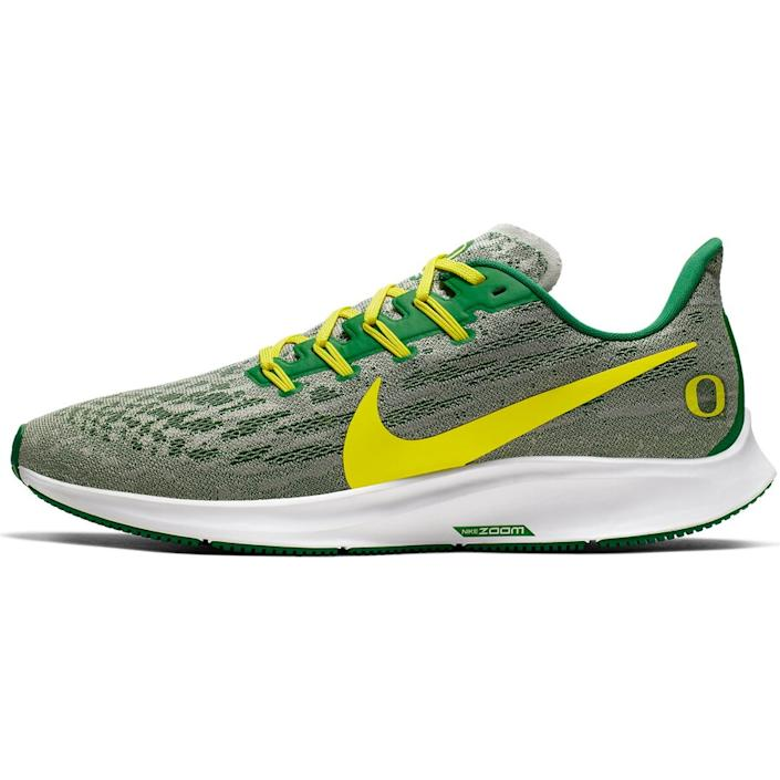 Men's Nike Gray/Yellow Oregon Ducks Air Zoom Pegasus 36 Sneakers