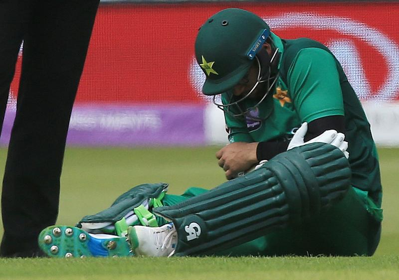 Imam-ul-Haq suffered a blow to the elbow and had to retire hurt