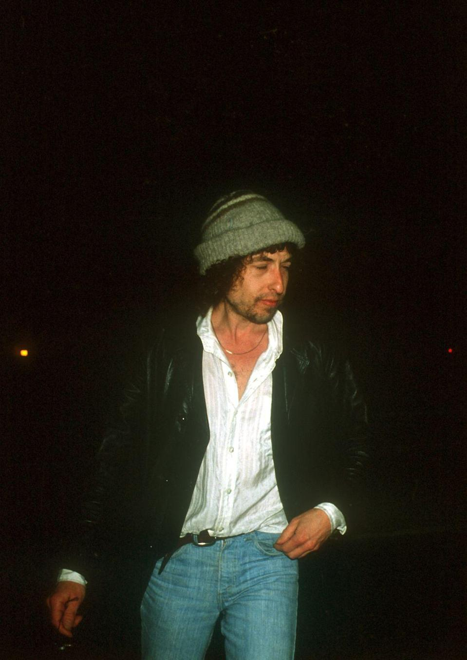 <p>Bob Dylan out in Los Angeles in 1976.</p>