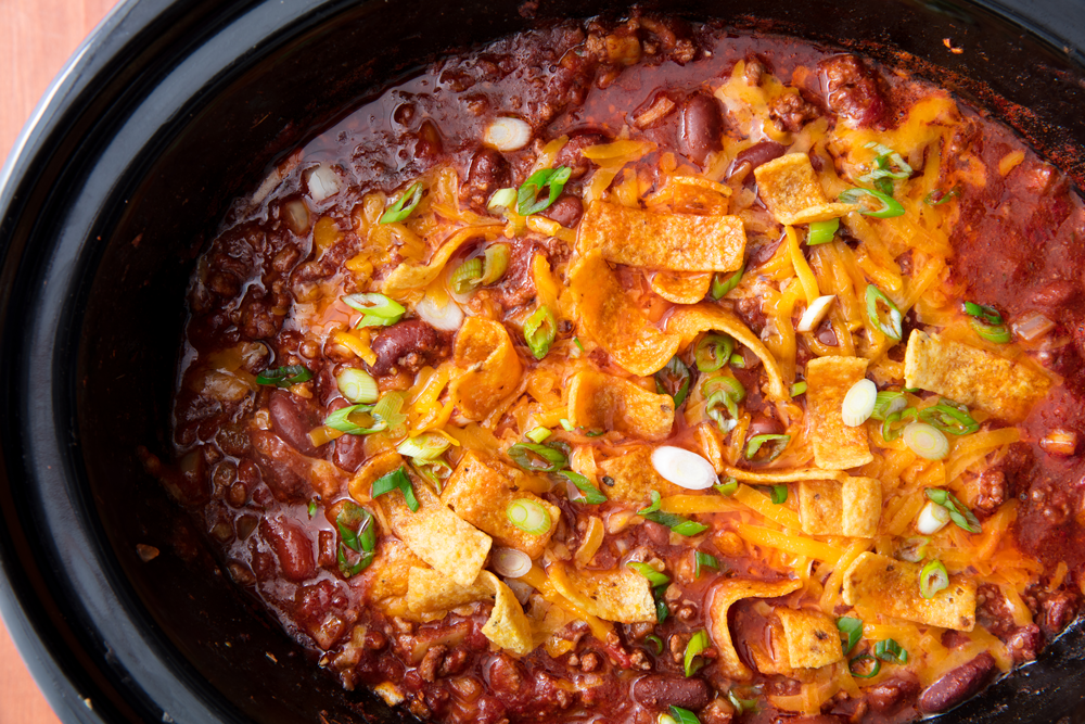 """<p>There's nothing better than a warm bowl of chili on a cool fall night. And with these slow-cooker recipes, chili night just got even better — and easier. Plus, try even more <a href=""""https://www.delish.com/cooking/g3047/easy-chili-recipes/"""" target=""""_blank"""">delicious chili recipes</a> and <a href=""""https://www.delish.com/cooking/g989/vegetarian-chili-recipes/"""" target=""""_blank"""">easy vegetarian chilis</a>!</p>"""
