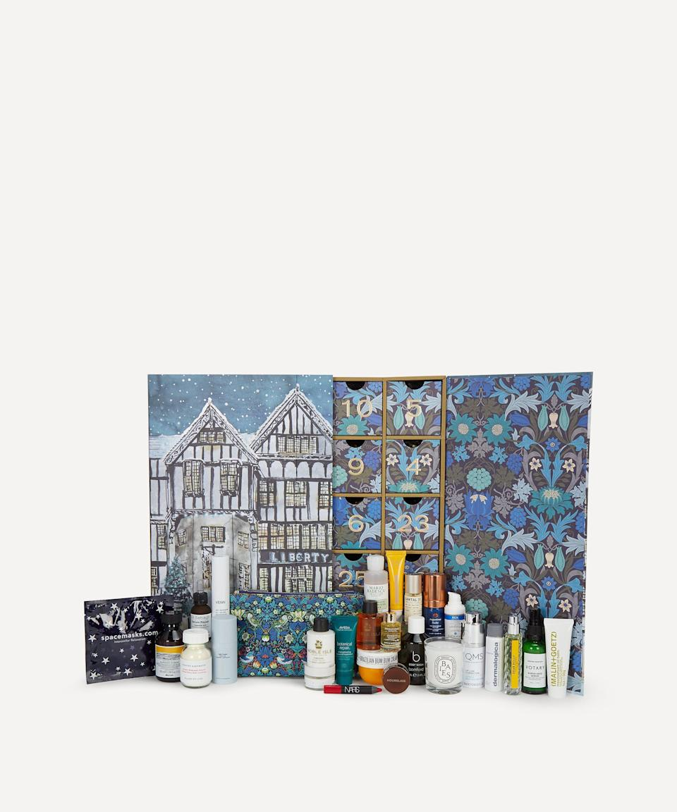 """<p><strong>Liberty London</strong></p><p>libertylondon.com</p><p><strong>$275.00</strong></p><p><a href=""""https://go.redirectingat.com?id=74968X1596630&url=https%3A%2F%2Fwww.libertylondon.com%2Fus%2Fbeauty-advent-calendar-2020.html&sref=https%3A%2F%2Fwww.harpersbazaar.com%2Fbeauty%2Fg33667621%2Fbest-beauty-advent-calendars%2F"""" rel=""""nofollow noopener"""" target=""""_blank"""" data-ylk=""""slk:Shop Now"""" class=""""link rapid-noclick-resp"""">Shop Now</a></p><p>Available on October 7th, Liberty London's calendar is for the beauty aficionado who knows fan-favorite brands like the back of their hand. Augustinus Bader, Le Labo, Hourglass Cosmetics, and Diptyque all make an appearance, gorgeously presented in a recyclable box.</p>"""