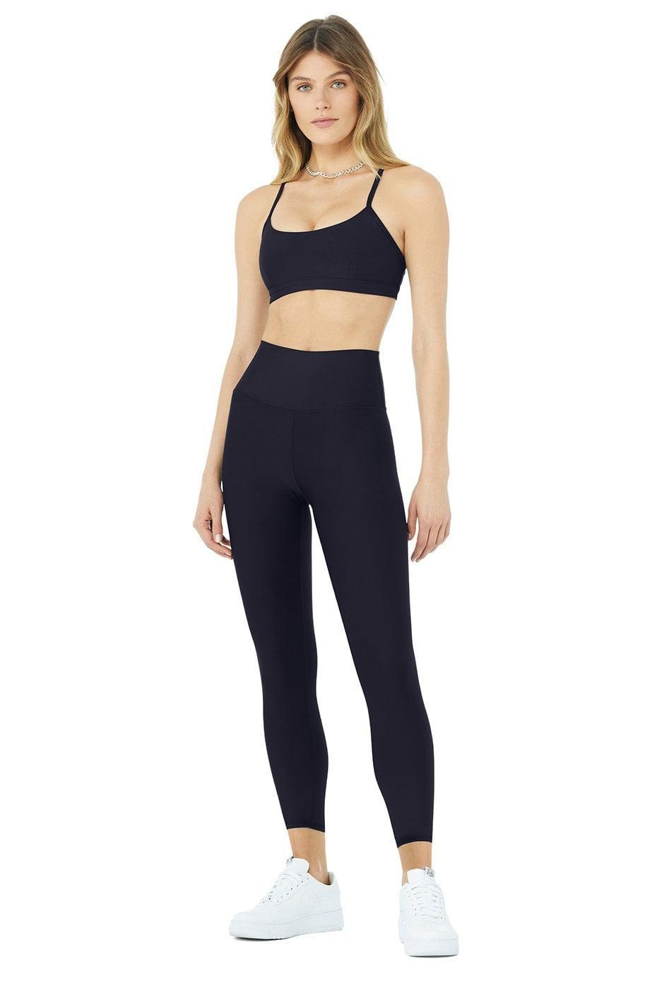 <p>We love the cool dark blue color and buttery soft fabric of this <span>Alo Airlift Intrigue Bra &amp; 7/8 High-Waist Airlift Legging Set</span> ($168). It's useful for sweaty workouts or running errands around town.</p>