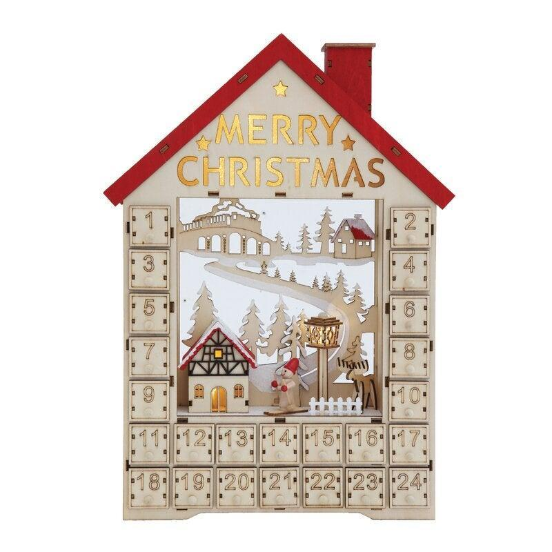 """<br><br><strong>The Holiday Aisle</strong> Wood House Advent Calendar with Boxes and LED, $, available at <a href=""""https://go.skimresources.com/?id=30283X879131&url=https%3A%2F%2Ffave.co%2F3ozVmcp"""" rel=""""nofollow noopener"""" target=""""_blank"""" data-ylk=""""slk:Wayfair"""" class=""""link rapid-noclick-resp"""">Wayfair</a>"""