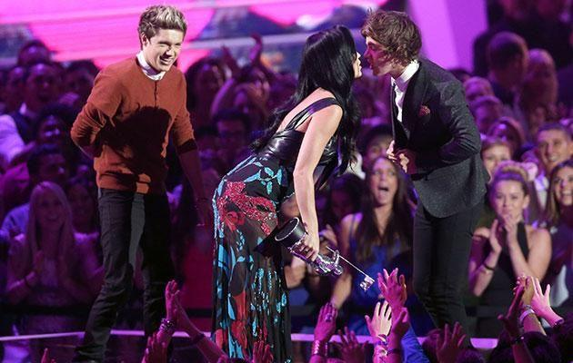 The pair enjoyed an onstage peck at 2012's MTV VMAs. Source: Getty