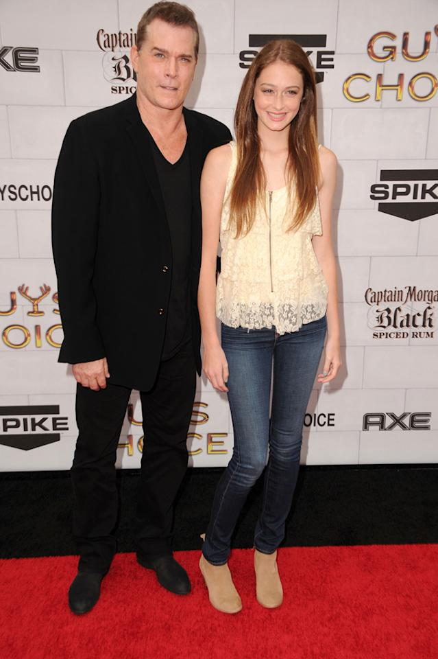 """Ray Liotta and Karsen Liotta attend Spike TV's 6th Annual """"Guys Choice"""" Awards at Sony Studios on June 2, 2012 in Los Angeles, California."""
