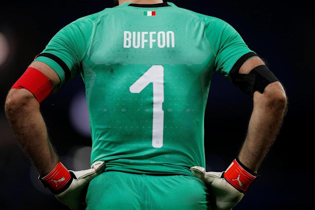 Soccer Football - International Friendly - Italy vs Argentina - Etihad Stadium, Manchester, Britain - March 23, 2018 Italy's Gianluigi Buffon REUTERS/Phil Noble