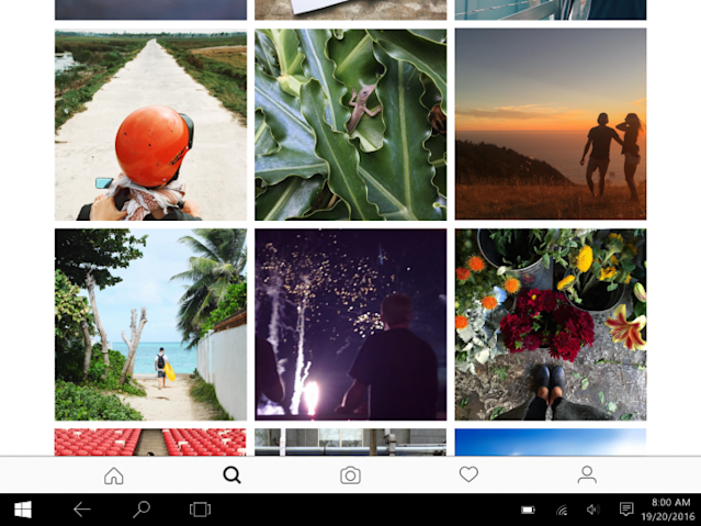 instagram windows 10 tablet