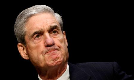 FILE PHOTO: Former FBI Director Robert Mueller testifies at a security threat hearing on Capitol Hill in Washington