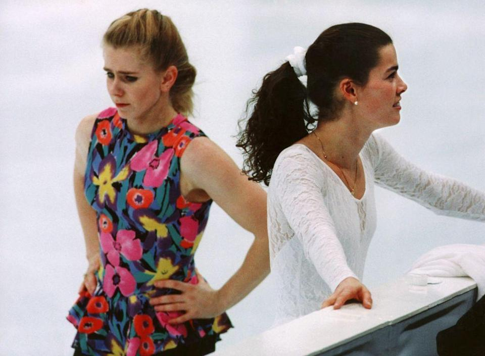 """<p>It didn't take long for the mysterious attacker of figure skater Nancy Kerrigan to be <a href=""""https://www.history.com/this-day-in-history/skater-nancy-kerrigan-attacked"""" rel=""""nofollow noopener"""" target=""""_blank"""" data-ylk=""""slk:connected to the ex-husband of fellow American skater Tonya Harding"""" class=""""link rapid-noclick-resp"""">connected to the ex-husband of fellow American skater Tonya Harding</a>. The incident is so historic that it became the subject of the film <em>I, Tonya</em>.</p>"""