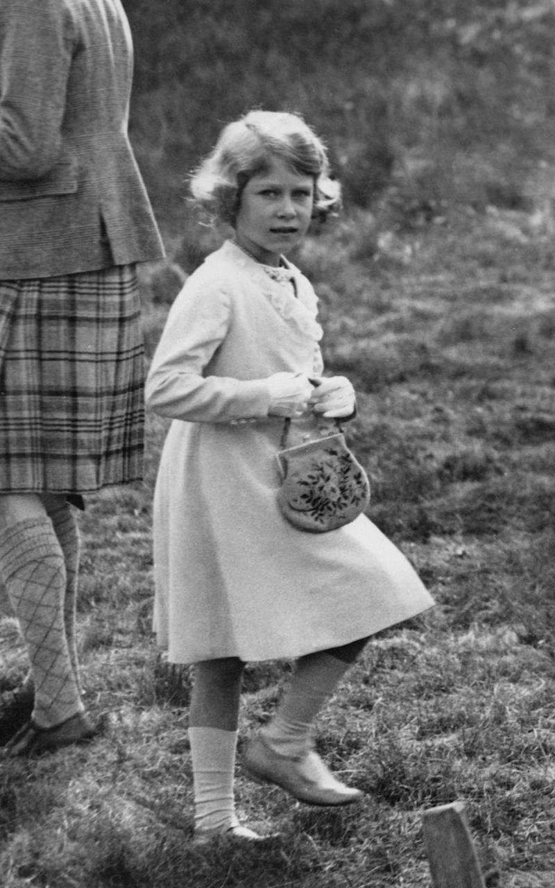 The future Queen Elizabeth in 1933, at the age of seven - Credit: Getty Images