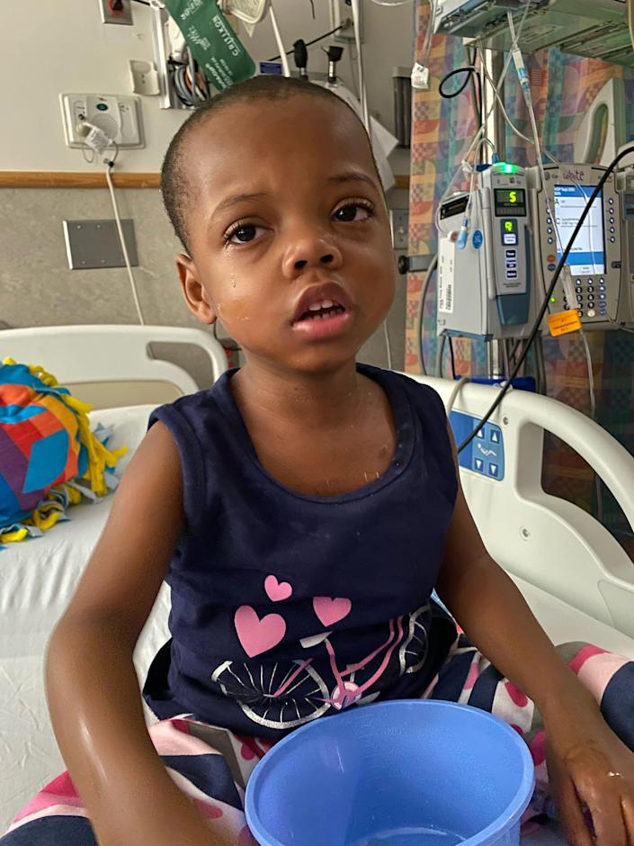 Zion Hicks, age 4, in hospital (Courtesy Sara Hicks)