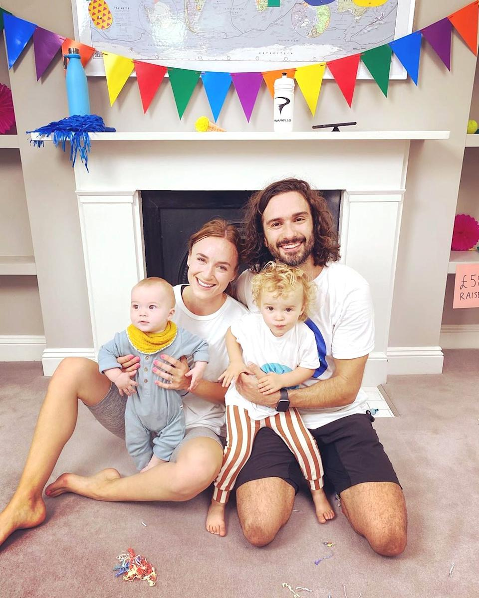 The whole family got involved for the final session in July (Joe Wicks)