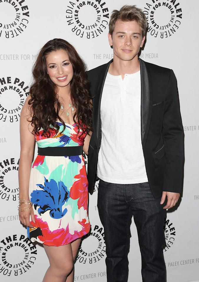 "BEVERLY HILLS, CA - APRIL 12: Actress Teresa Castillo (L) and actor Chad Duell attend The Paley Center for Media Presents ""General Hospital: Celebrating 50 years and Looking Forward"" at The Paley Center for Media on April 12, 2013 in Beverly Hills, California.  (Photo by Frederick M. Brown/Getty Images)"