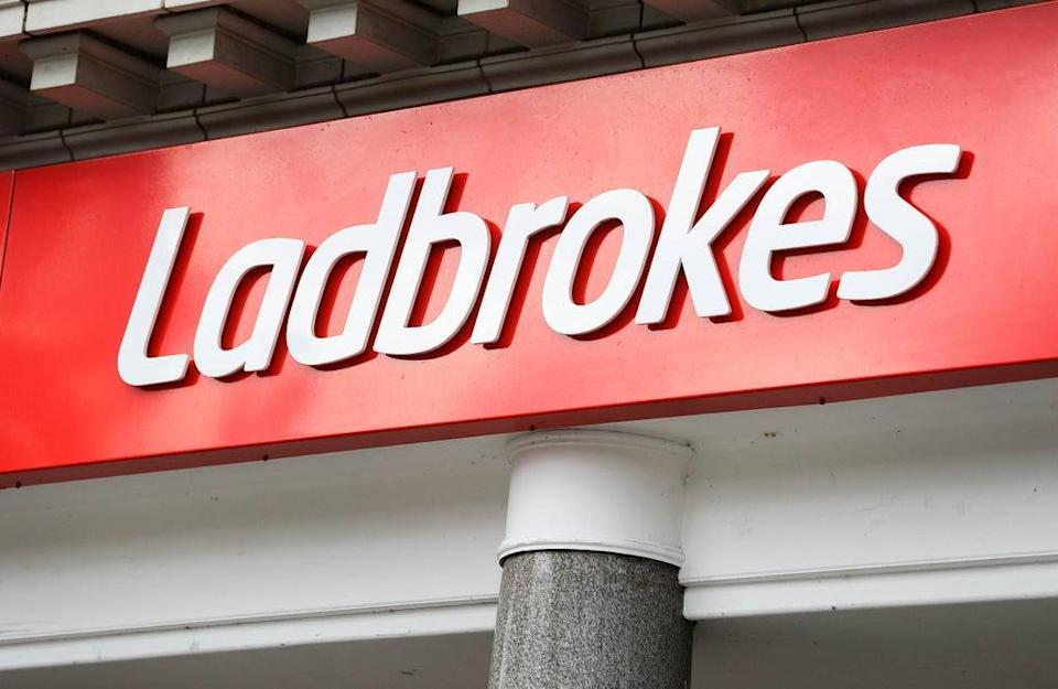 Ladbrokes, Nottingham City Centre. Betting giant Entain has highlighted higher revenues for the past three months (Mike Egerton/PA) (PA Archive)