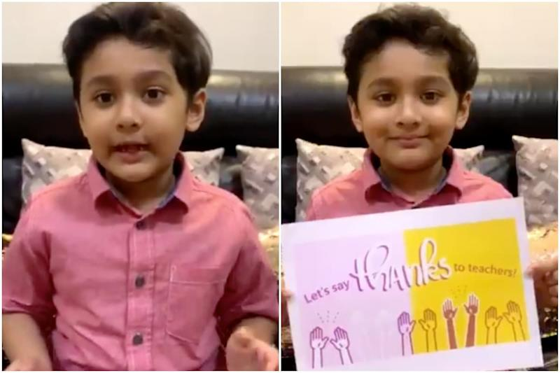 8-year-old Bangladeshi Boy's Viral Message Thanking Teachers amid Pandemic is Winning Hearts