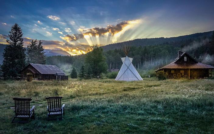"""<p>If fresh air and sunshine is the M.O. for your next vacation, consider a week (or four) at Colorado's <a href=""""https://www.cntraveler.com/hotels/united-states/dolores/dunton-hot-springs--dolores?mbid=synd_yahoo_rss"""" rel=""""nofollow noopener"""" target=""""_blank"""" data-ylk=""""slk:Dunton Hot Springs"""" class=""""link rapid-noclick-resp"""">Dunton Hot Springs</a>. The upscale resort, located in an old mining town up in the Rockies, manages to ably combine the rustic feel of log cabin-living with the modern comforts of a top-tier escape. Guests have six options for enjoying the actual hot springs, like under the stars or inside the restored, 19th-century bathhouse. The place also has its own vineyard, library, and saloon, while the surrounding wilderness is ideal for hiking and horseback riding in summer, and heli-skiing and snowmobiling come winter.</p> <p><strong>Book now:</strong> <a href=""""https://cna.st/affiliate-link/Fb1nPyBWjoYAPLtCDb1TMAUJPYbn2A2cqMthrEDLti4TkxMMyMeBUCVXftTm9Nv9bme2mhoi3VRPPdvrwGdcMJubBbKQWuQGW37NbcTScqgoR4nj23PDjw94Bp943JD8Zfkxqq2dd1v9u658tGsLWjtJgTbfj?cid=5ff32f6b404e39e322d88cee"""" rel=""""nofollow noopener"""" target=""""_blank"""" data-ylk=""""slk:expedia.com"""" class=""""link rapid-noclick-resp"""">expedia.com</a></p>"""