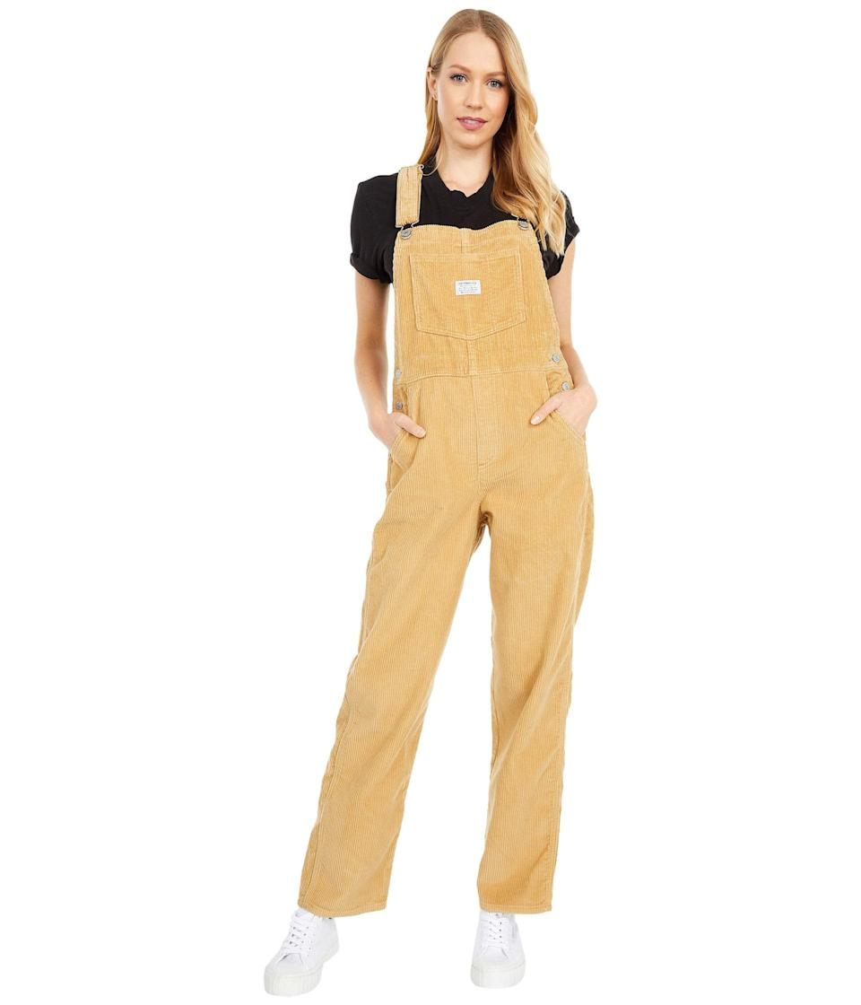 """<br><br><strong>Levi's® Premium</strong> Vintage Overall, $, available at <a href=""""https://go.skimresources.com/?id=30283X879131&url=https%3A%2F%2Fwww.zappos.com%2Fp%2Flevis-premium-vintage-overall-iced-coffee-warm%2Fproduct%2F9396095%2Fcolor%2F888933"""" rel=""""nofollow noopener"""" target=""""_blank"""" data-ylk=""""slk:Zappos"""" class=""""link rapid-noclick-resp"""">Zappos</a>"""