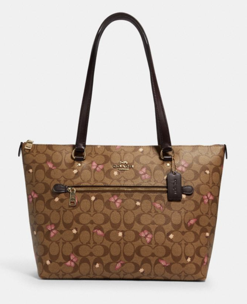 Gallery Tote in Signature Canvas with Butterfly Print (Photo via Coach Outlet)