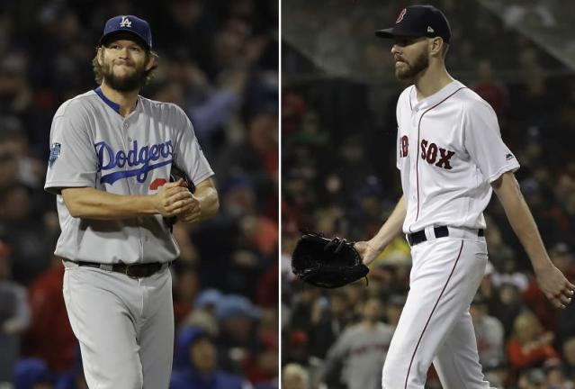 Clayton Kershaw vs. Chris Sale make the wrong kind of history in disappointing World Series Game 1 pitching matchup. (AP)