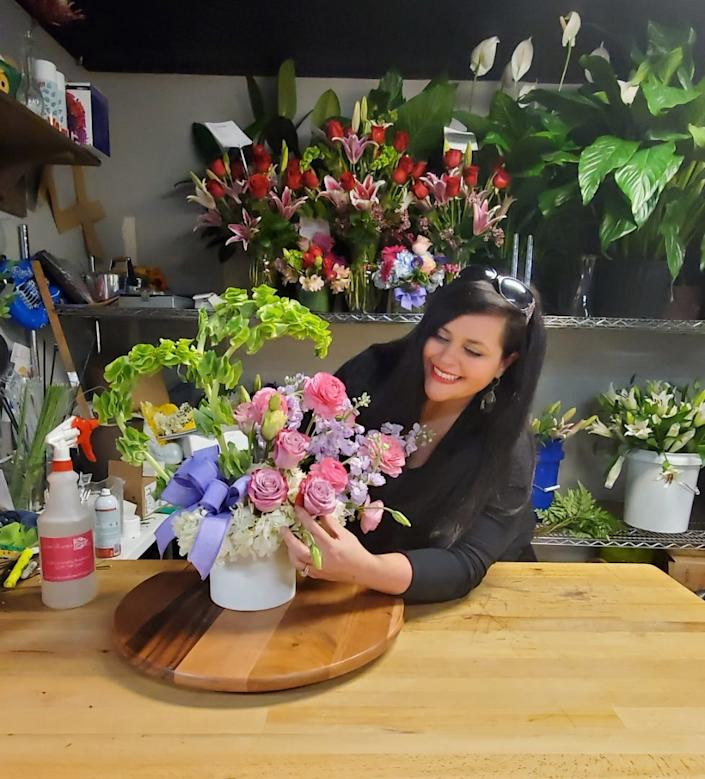Sarah Morrison recently reopened her flower shop in Tuscaloosa, Alabama, just in time for Mother's Day. She is continuing to take precautions by limiting the number of customers allowed in her shop, but overall is glad to be able to restart her business after the losses suffered due to coronavirus shutdowns.