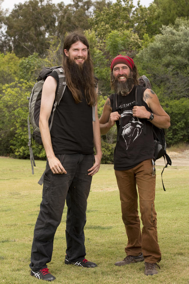 "Childhood Friends Brandon Squyres and Adam Switzer compete in a sprint around the globe for $1 million dollars on the new season of ""The Amazing Race."""