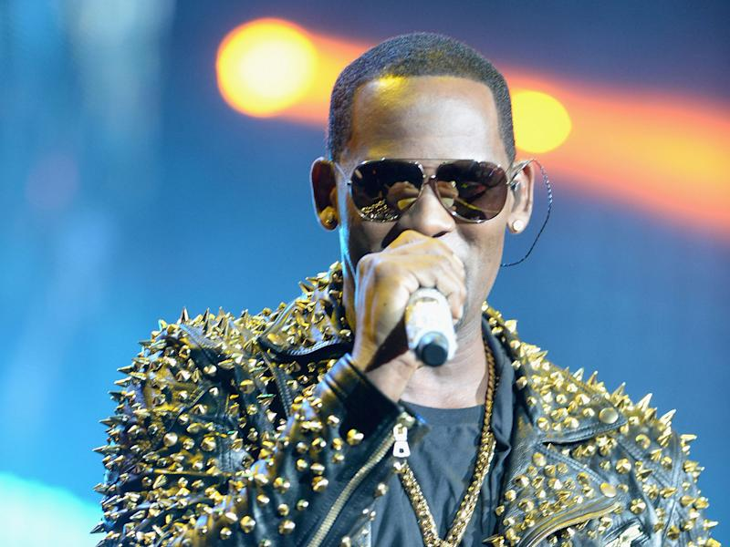 R Kelly performing in 2014: Getty