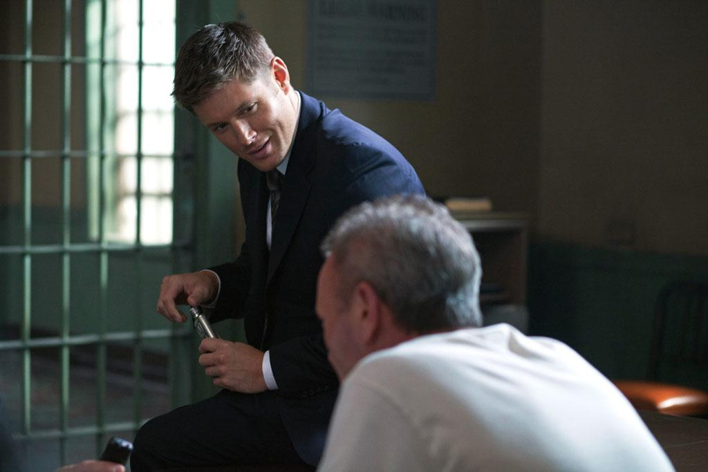 "Jensen Ackles as Dean and Paul Boyle as Arthur in the ""Supernatural"" episode, ""Heartache."""