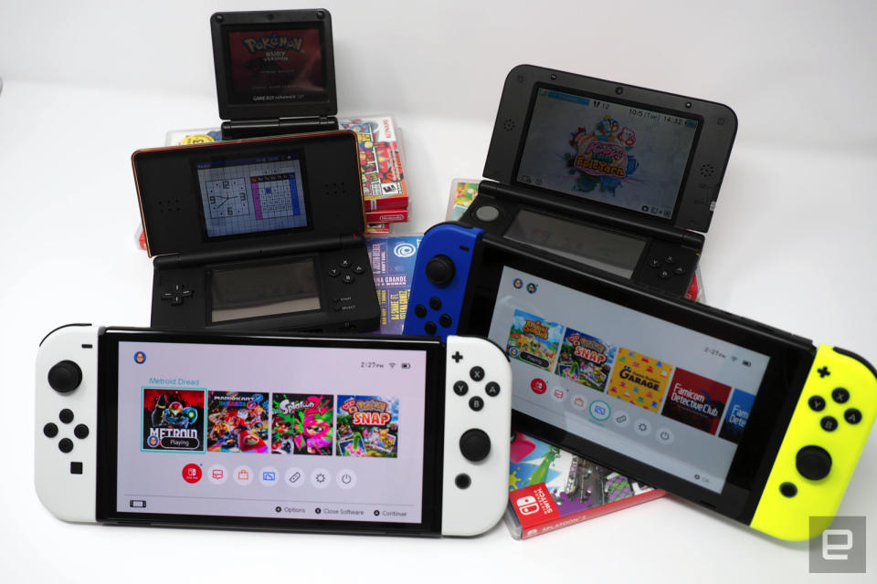 GBA SP, DS Lite, 3DS XL, Switch, Switch OLED