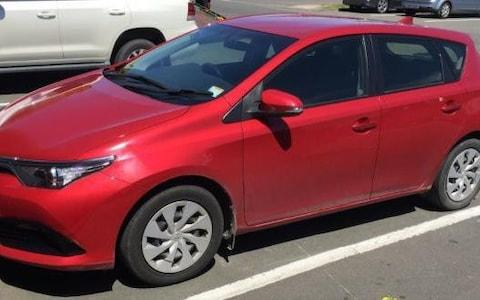 A 2016 red Toyota Corolla hire car that police are analysing as part of a probe into the death of Grace Millane - Credit: PA