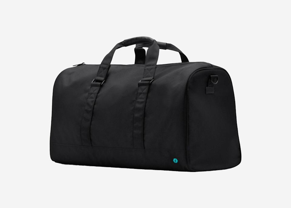 """<p>Ideal for the active traveler, this bag was made with sweaty clothes in mind. It has a smell-proof shoe pocket and multiple inside pockets to keep gym clothes separated; plus, the bottom is easy to wipe clean when you get home. An included lock means you can secure it to a fixed spot when need be, too.</p> <p><strong>Buy now:</strong> <a href=""""https://fave.co/2BKlQ77"""" rel=""""nofollow noopener"""" target=""""_blank"""" data-ylk=""""slk:$95, solgaard.co"""" class=""""link rapid-noclick-resp"""">$95, solgaard.co</a></p>"""