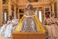 <p>Actress Golda Rosheuvel plays a formidable - and very glamorous - Queen Charlotte. </p>
