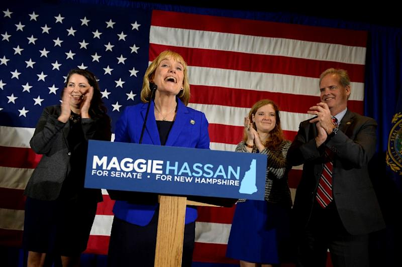 New Hampshire Democratic Gov. Maggie Hassan took the seat of Republican Senator Kelly Ayotte, who opposed President-elect Donald Trump, in the US Senate in the November 8, 2016 vote