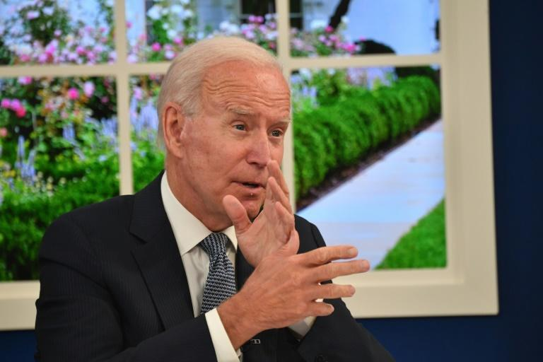 US President Joe Biden called the debt ceiling a 'meteor headed to crash into our economy' (AFP/Nicholas Kamm)