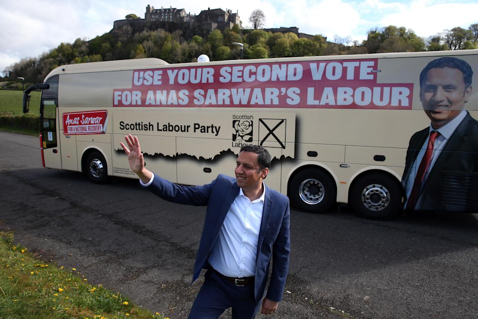 Labour's Anas Sarwar has focused on the issue of coronavirus recovery during the campaign (Andrew Milligan/PA)