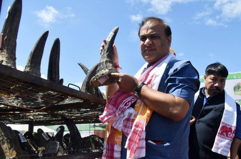 Assam's Chief Minister Himanta Biswa Sarma was at the ceremony in the town of Bokakhat (AFP/Biju BORO)