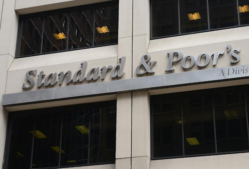 Standard and Poor's, whose headquarters are pictured in New York on September 18, 2012, downgrades Greece's credit rating to B-, just one notch above the range indicating vulnerability to a default (AFP Photo/Emmanuel Dunand)
