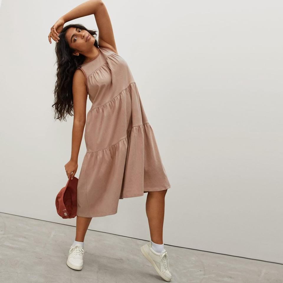<p>This versatile <span>Everlane Weekend Tiered Dress</span> ($60) also comes in black and beige.</p>