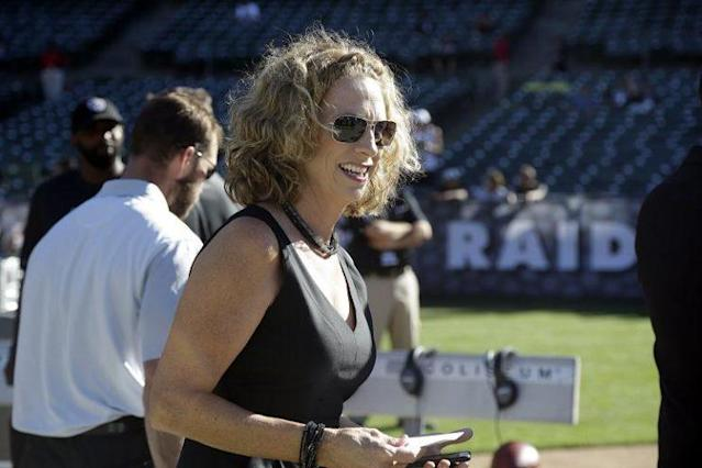 Beth Mowins will make history in September when she becomes the first female in 30 years to handle play-by-play duties for an NFL game. (AP)
